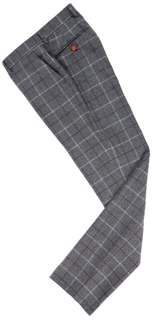 Grey Tattersall Tweed Trousers