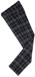 Black Plaid Overcheck Tweed Trousers