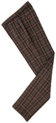 Brown Windowpane Plaid Tweed Trousers