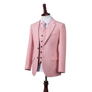 Pink Twill Tweed  3 Piece Suit
