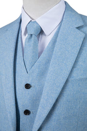 Light Blue Twill Tweed Jacket