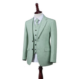 Light Green Twill Tweed Jacket