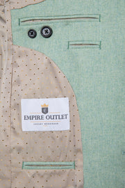 Light Green Twill Tweed  3 Piece Suit