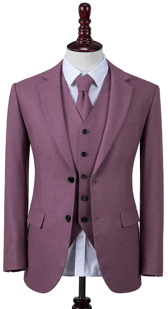 Mauve Twill Tweed 3 Piece
