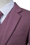 Mauve Twill Tweed Jacket
