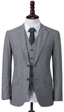 Grey Pinstripe Linen Jacket