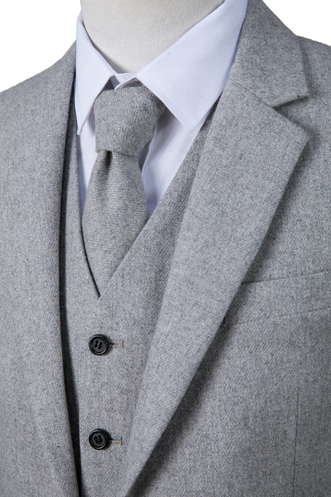 Light Grey Twill Tweed Jacket