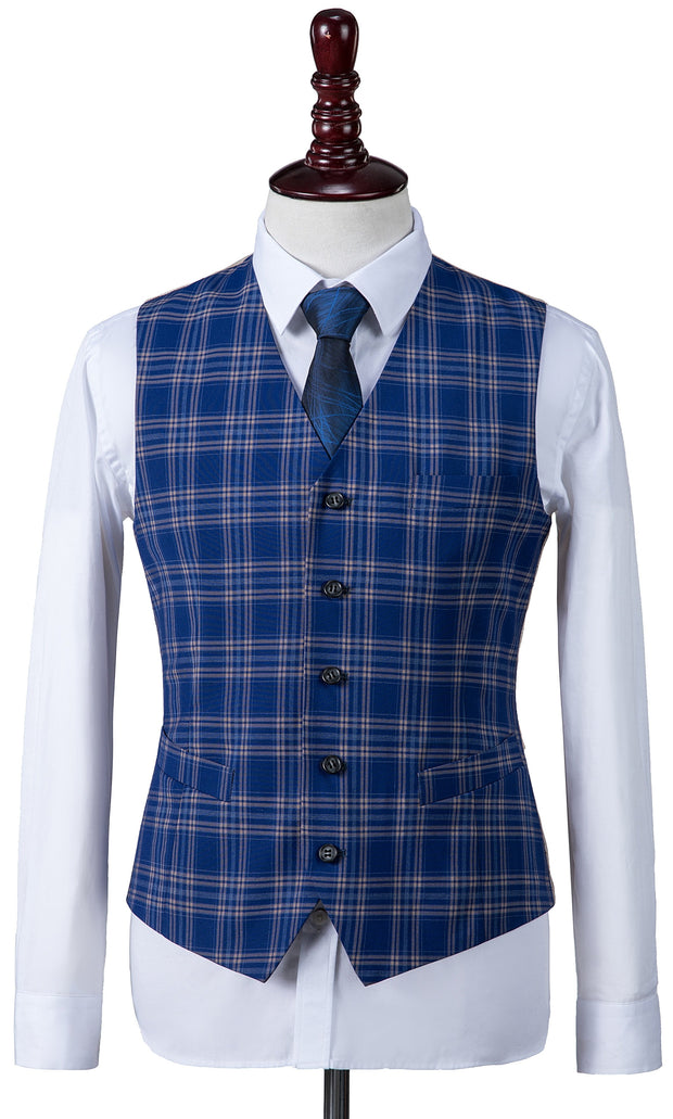 Dark Blue Windowpane Plaid