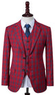 Red Windowpane Plaid Jacket