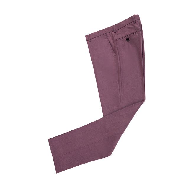 Mauve Twill Tweed Trousers