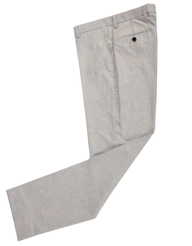 Cream Twill Tweed Trousers