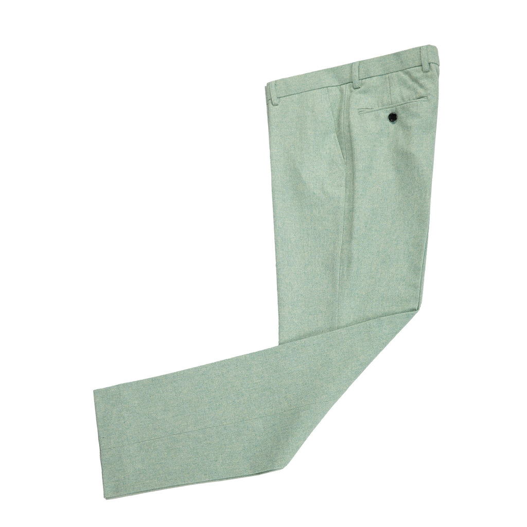 Light Green Twill Tweed Trousers