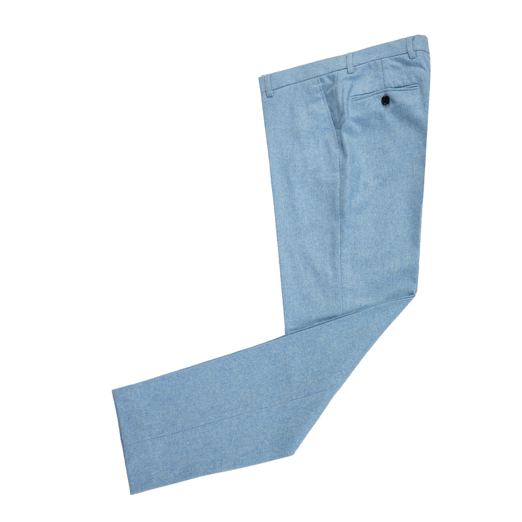 Light Blue Twill Tweed Trousers
