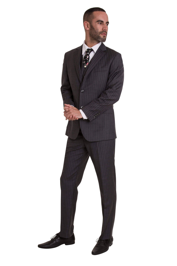 Dark Grey Pinstripe Empire Elite Trousers