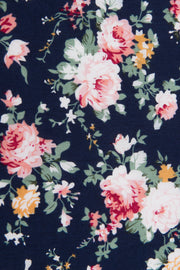 Close up of Navy Floral Tie
