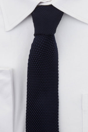 Navy Knitted Tie