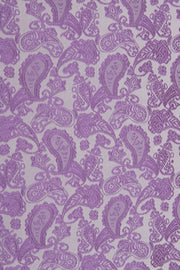 Close up of Purple Paisley Tie
