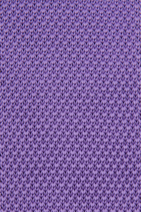 Close up of Purple Knitted Tie