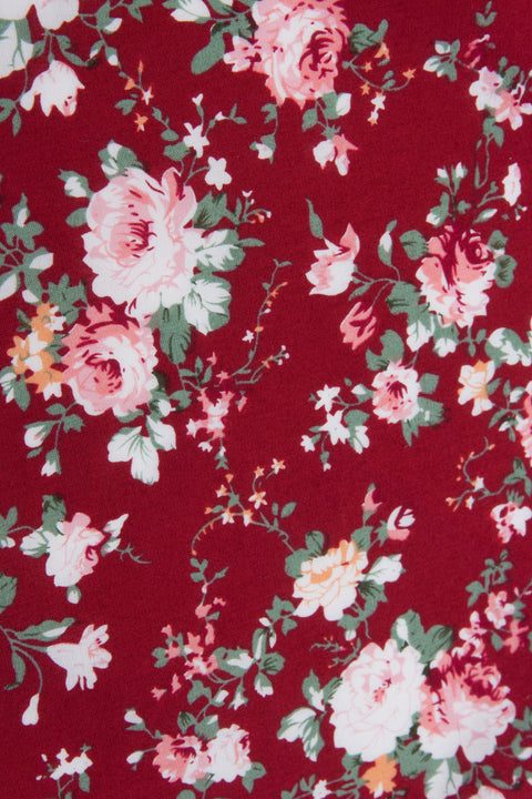 Close up of Red Floral Tie