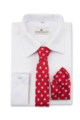 Red Polka Dot Tie & Pocket Square