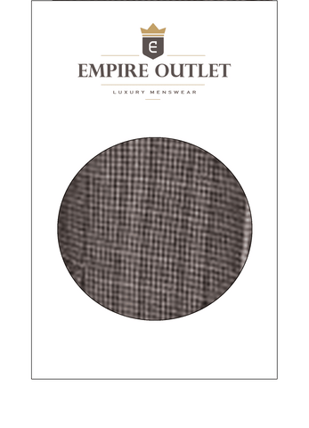 Brown Red Houndstooth Tweed Fabric Sample