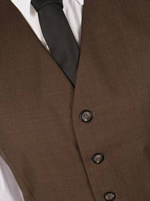 Regal Brown Worsted Wool Waistcoat
