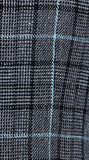 Grey Sky Blue Houndstooth Tweed Tie