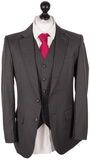 Charcoal Italian Pinstripe Worsted Wool Jacket