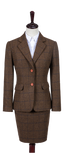 Country Brown Windowpane Tweed 2 Piece Womens