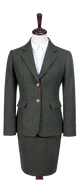Green Herringbone Tweed Jacket Womens