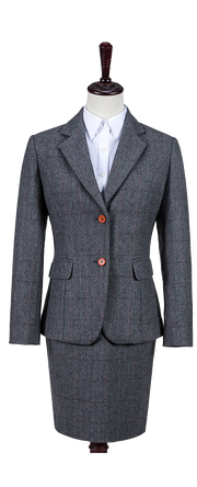 Traditional Grey Estate Herringbone Tweed Jacket Womens