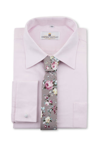 Luxury Pink Twill Shirt - Double Cuff