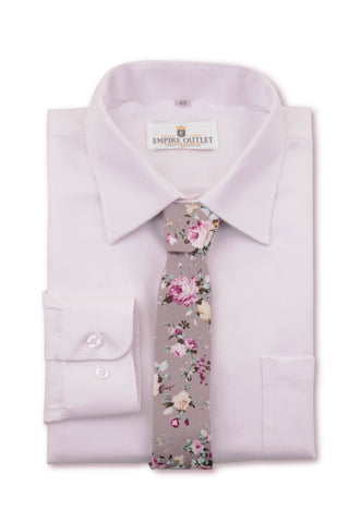 Luxury Pink Twill Shirt - Single Cuff