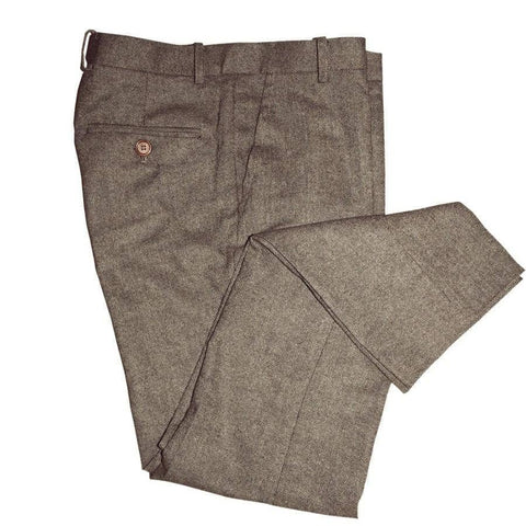 Classic Brown Barleycorn Tweed Trousers