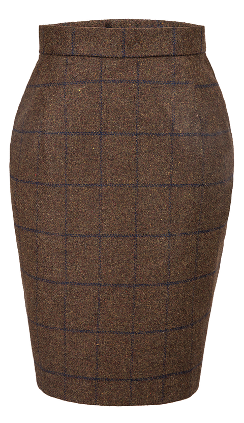 Country Brown Windowpane Tweed 3 Piece Womens