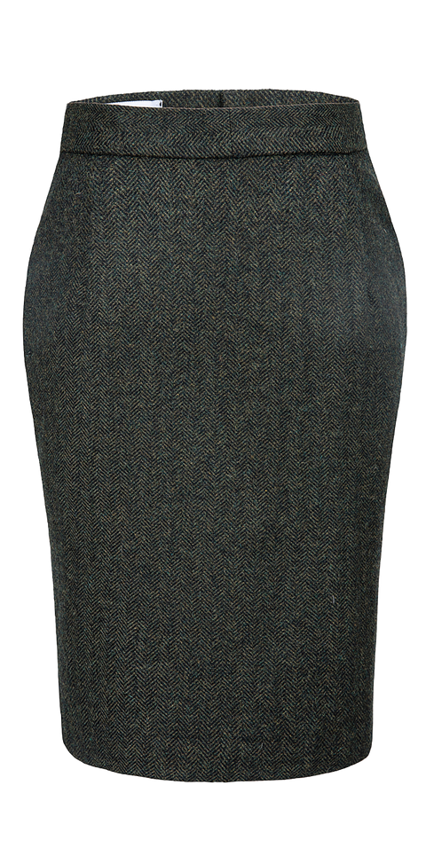 Green Herringbone Tweed 3 Piece Womens