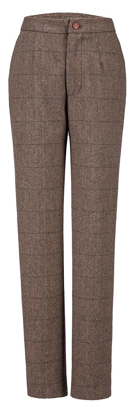 Traditional Brown Estate Herringbone Tweed 2 Piece Womens