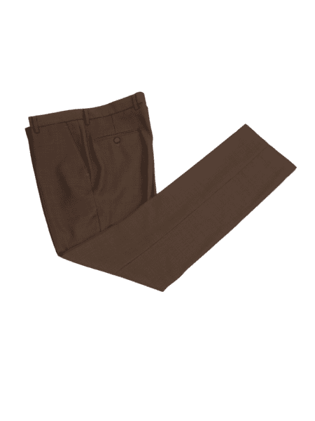 Regal Brown Worsted Wool Trousers