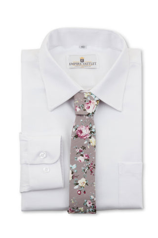 Luxury White Twill Shirt - Single Cuff