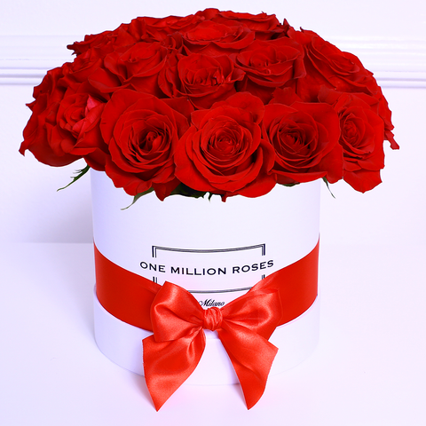 Classic Collection - Small Box - Rose Rosse Sfera - Scatola Bianca