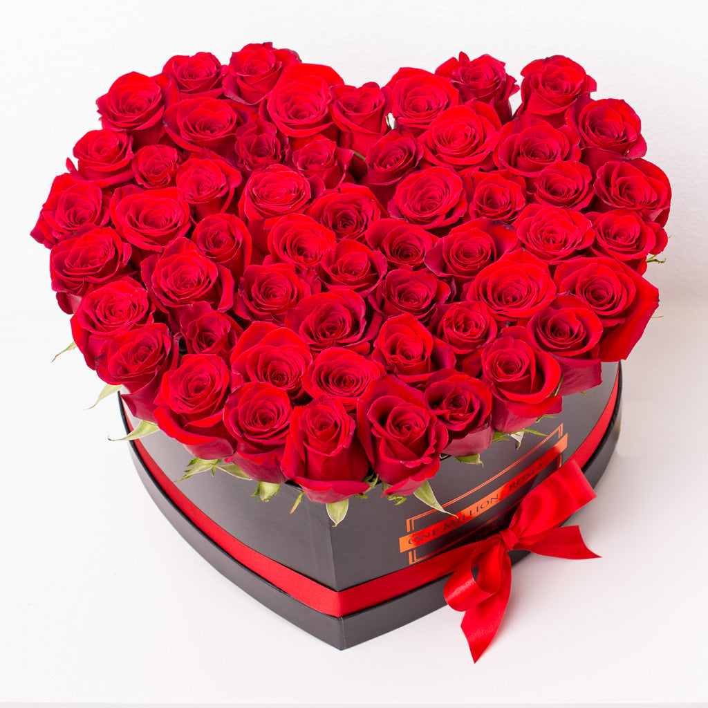 Love Collection - Love Box - Rose Rosse - Scatola Nera – One Million Roses
