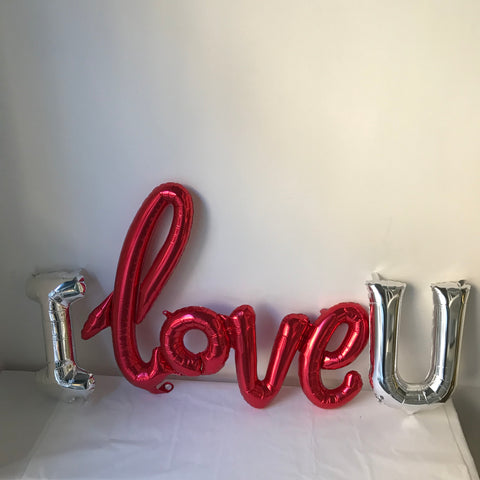 "Decorazione con Palloncino ""I Love U"""