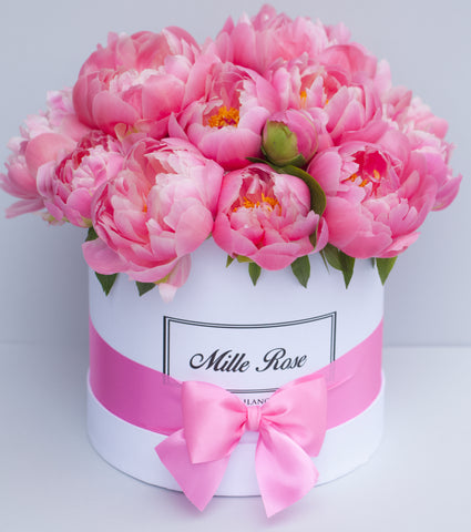 Classic Collection - Small Box - Peonie - Scatola Bianca