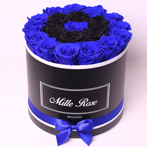 Senza Tempo - Mille Rose - Medium Box - Rose Blu e Nere - Scatola Nera
