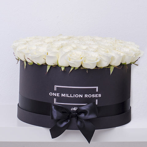 Classic Collection - One Million Box - Rose Bianche - Scatola Nera