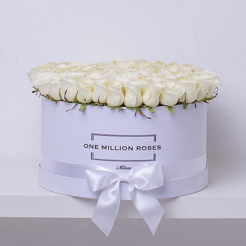 Classic Collection - One Million Box - Rose Bianche - Scatola Bianca