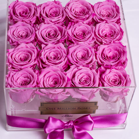 Senza Tempo - Rose Rosa - Crystal Box
