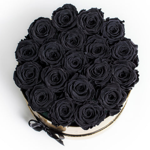 Senza Tempo - Medium Box - Rose Nero - Scatola Oro