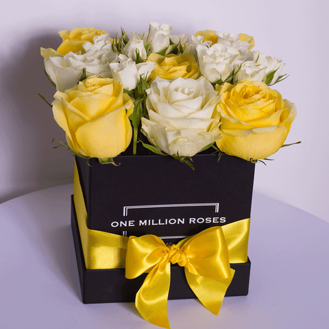 Classic Collection - Cube Box - Rose Mix Giallo - Scatola Nera