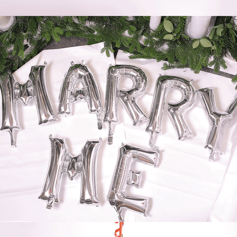 "Decorazione con Palloncino  ""Marry Me"""